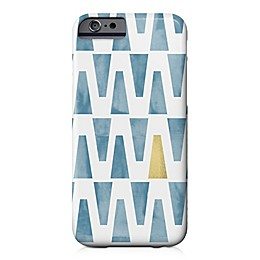Designs Direct Watercolor Triangles Barely There Case for iPhone 6/6S in Blue