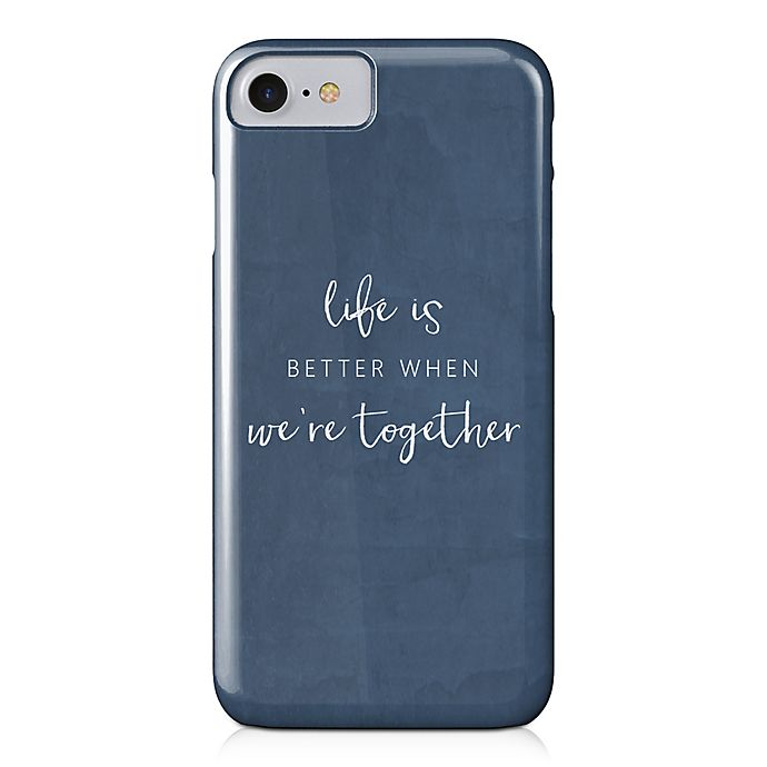 Alternate image 1 for Designs Direct Life is Better Together Barely There Case for iPhone 7 in Blue