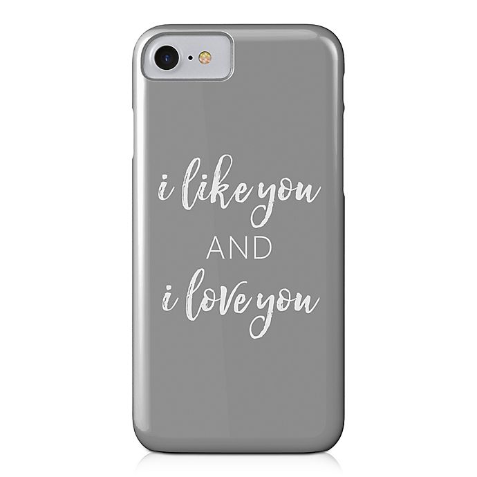 Alternate image 1 for Designs Direct Like and Love You Barely There Case for iPhone 7 in Grey