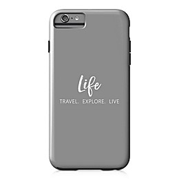 Designs Direct Explore Travel Live Tough Case for iPhone 6 Plus in Grey