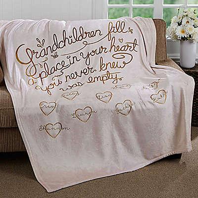 """""""Grandchildren Fill Our Hearts"""" Fleece Throw Blanket"""