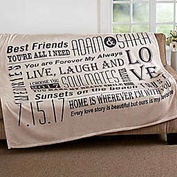 """Our Life Together"" Fleece Throw Blanket"