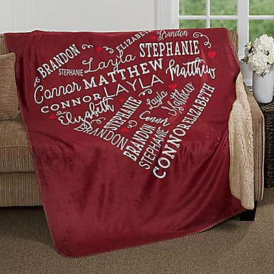 Close to Her Heart Premium Sherpa Throw Blanket