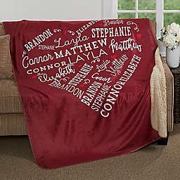 Close to Her Heart Premium Sherpa Throw Blanket