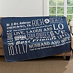 Our Life Together 60-Inch x 80-Inch Premium Sherpa Throw Blanket