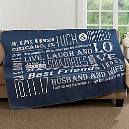 Our Life Together 50-Inch x 60-Inch Premium Sherpa Throw Blanket