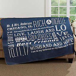 Our Life Together Premium Sherpa Throw Blanket