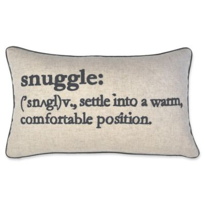 bed bath beyond pillows Snuggle Definition Oblong Throw Pillow in Navy | Bed Bath & Beyond bed bath beyond pillows