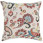 Make-Your-Own-Pillow Chantilly Square Throw Pillow Cover in Red
