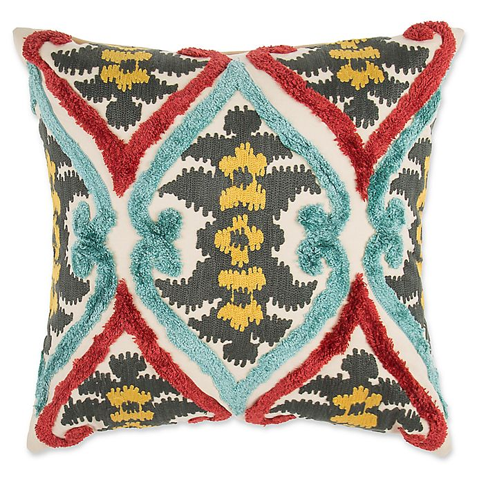 Alternate image 1 for Make-Your-Own-Pillow Native Ikat Square Throw Pillow Cover in Red