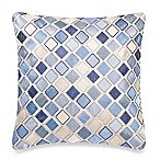 Make-Your-Own-Pillow Diamond Square Throw Pillow Cover in Blue
