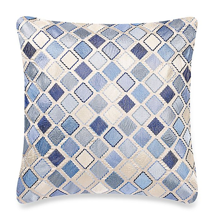 make your own pillow diamond square throw pillow cover in blue bed bath beyond. Black Bedroom Furniture Sets. Home Design Ideas