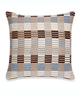 Funda cuadrada para cojín Make-Your-Own-Pillow Stripe & Ladder en azul/gris