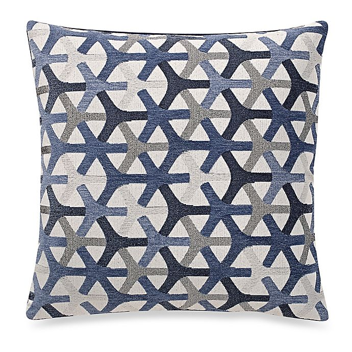 make your own pillow tubine square throw pillow cover in navy bed bath beyond. Black Bedroom Furniture Sets. Home Design Ideas