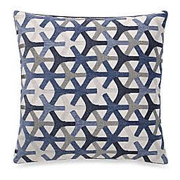 Make-Your-Own-Pillow Tubine Square Throw Pillow Cover in Navy