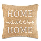 Make-Your-Own-Pillow  Home Sweet Home  Square Throw Pillow Cover in Yellow