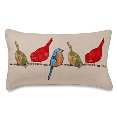 Make Your Own Pillow Tori Birds Oblong Throw Pillow Cover