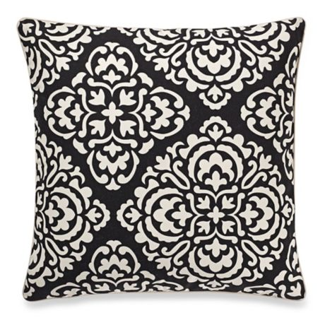 buy make your own pillow ceila square throw pillow cover in black white from bed bath beyond. Black Bedroom Furniture Sets. Home Design Ideas