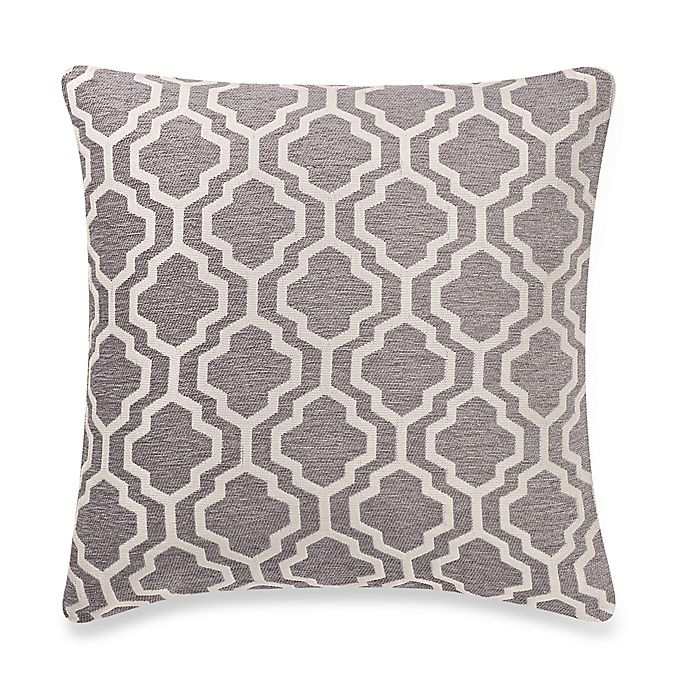 make your own pillow lyssa square throw pillow cover in grey bed bath beyond. Black Bedroom Furniture Sets. Home Design Ideas