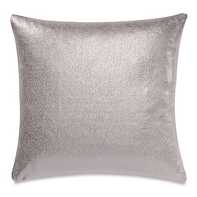 Make-Your-Own-Pillow Rango Square Throw Pillow Cover in Silver