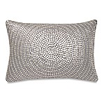 Make-Your-Own-Pillow Trance Oblong Throw Pillow Cover in Silver