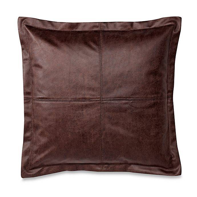 Make Your Own Pillow Dimaggio Faux Leather Square Throw