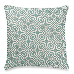 Make-Your-Own-Pillow Knottingham Square Throw Pillow Cover in Blue