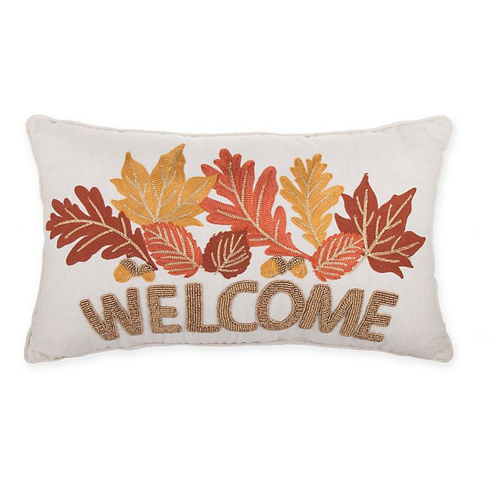 Alternate image 1 for Welcome Rectangle Throw Pillow