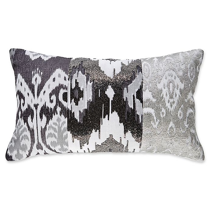 Alternate image 1 for Callisto Home Ikat Rectangle Throw Pillow in Grey