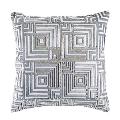 Callisto Home Square Throw Pillow in Slate Blue