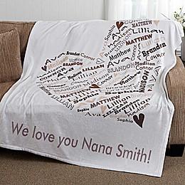Her Heart Of Love 50-Inch x 60-Inch Fleece Throw Blanket