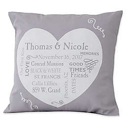 Our Life Together Keepsake 18-Inch Square Throw Pillow