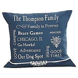 Our Family Keepsake 14-Inch Square Throw Pillow