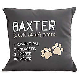 Definition of My Dog Keepsake Square Throw Pillow