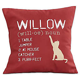 Definition of My Cat Keepsake Square Throw Pillow