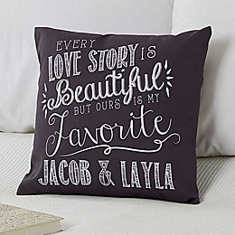 Love Quotes Keepsake Square Throw Pillow