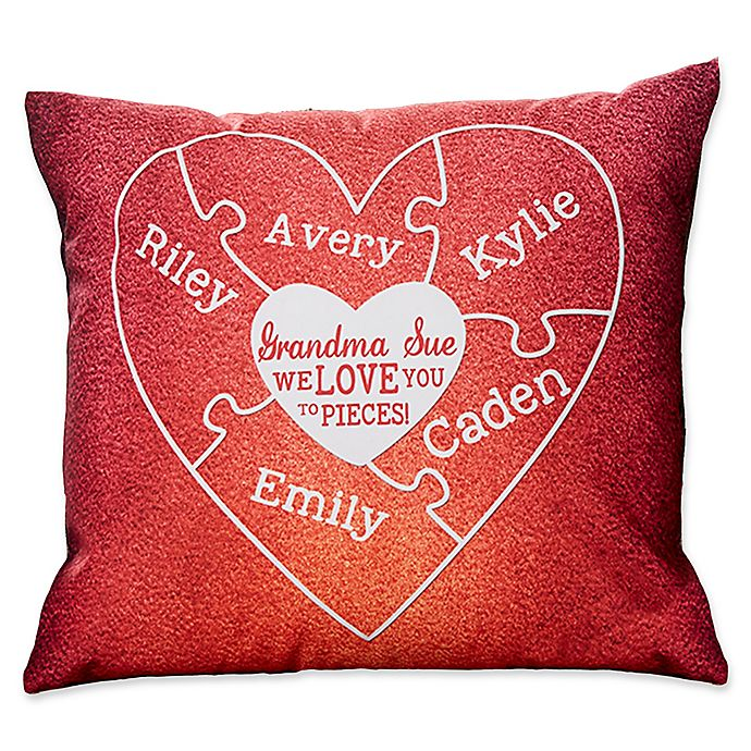 Alternate image 1 for We Love You to Pieces Keepsake Square Throw Pillow