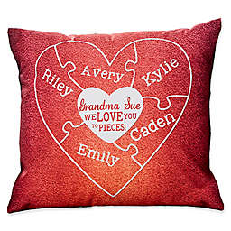 We Love You to Pieces Keepsake Square Throw Pillow