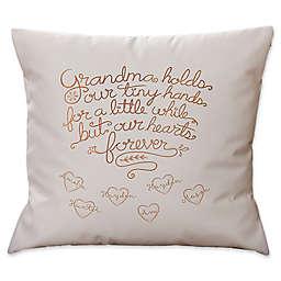 Grandchildren Fill Our Hearts Keepsake Square Throw Pillow