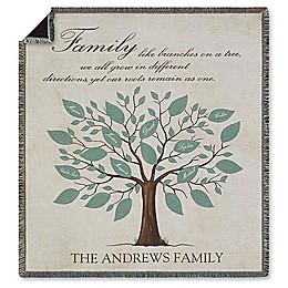 Family Tree Fleece Throw Blanket