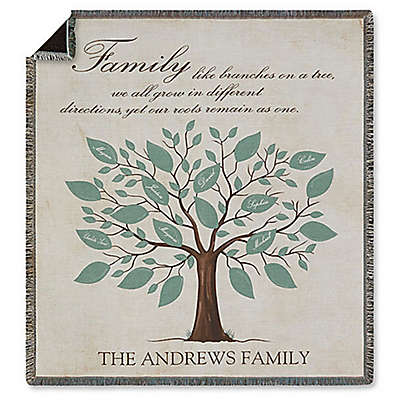 Family Tree Fleece Throw Blanket