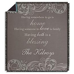 Family Blessings Fleece Throw Blanket
