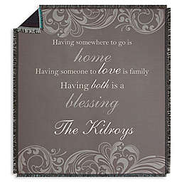 Family Blessings Fleece Throw Blanket