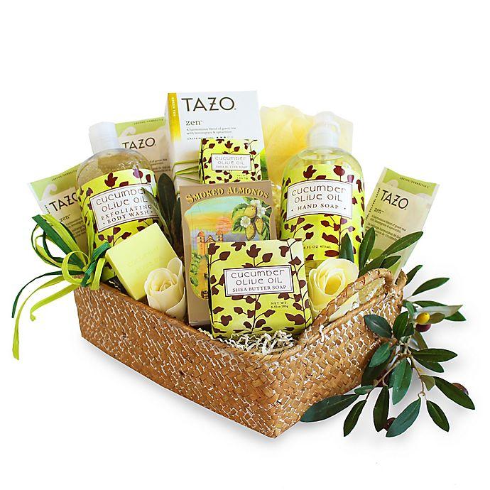 Alternate image 1 for Natural Cucumber and Olive Oil Spa Gift Basket