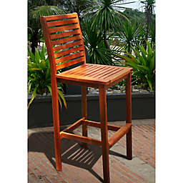Vifah Classic Wood Bar Chair in Natural