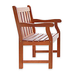 Vifah Classic Wood Armchair in Natural