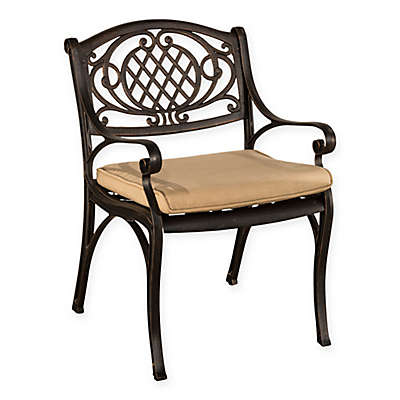 Hillsdale Esterton Outdoor Dining Chairs in Black/Gold (Set of 2)