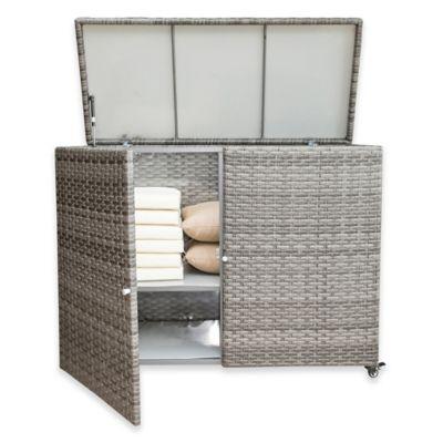 Panama Jack Graphite Outdoor Cushion Storage Cart In Grey Bed Bath Beyond