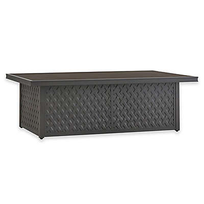 Verona Home Monte Bardo Outdoor Aluminum Cocktail Table in Charcoal