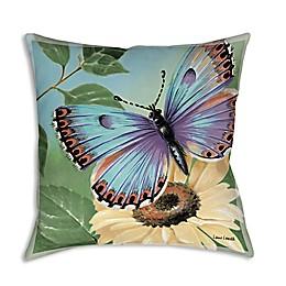 Manual Woodworkers Butterflies Square Indoor/Outdoor Throw Pillow